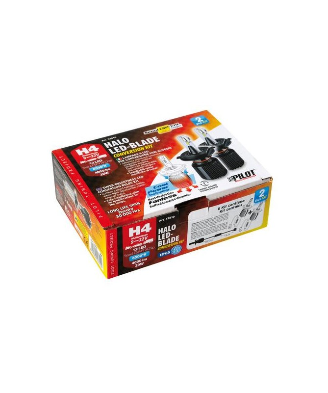 KIT A LED H4 HALO LED-BLADE 9-32V 20W 6500K LAMPA 57810